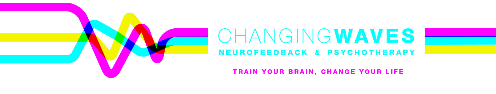 "site banner that reads ""changing waves neurofeedback and psychotherapy. Train your brain, change your life"""